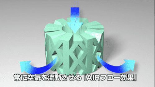 オクタスプリングは高い通気性で新鮮な空気を維持