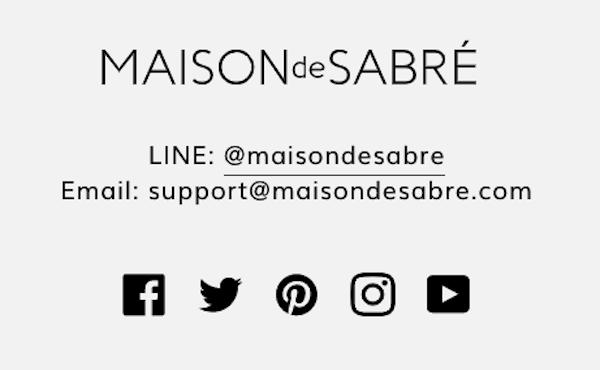 MAISON de SABRE(メゾンドサブレ)のLINE公式アカウントからクーポン取得