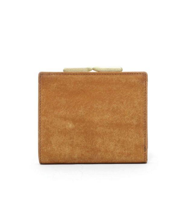 sot(ソット)プエブロレザーがま口二つ折り財布